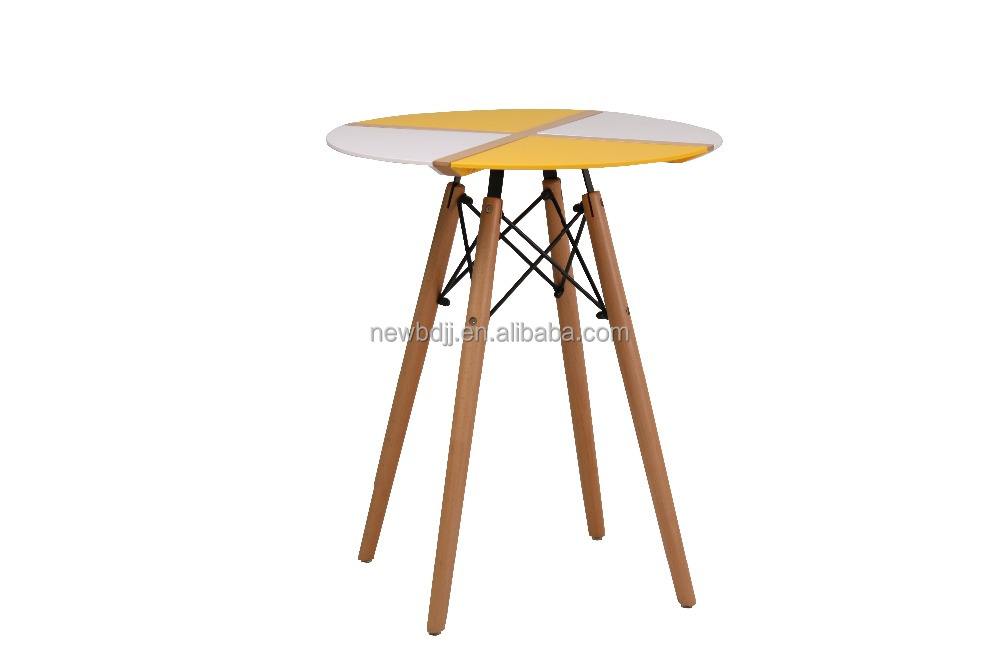 Small ABS splicing top coffee table with effiel beech wood legs