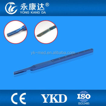 Titanium alloy number 3 narrow blade handle with ruler match with number 10/11/12/15 blade