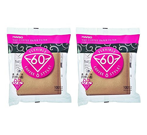 3-Pack Set Total 300 Sheets Hario 01 100-Count Coffee Natural Paper Filters