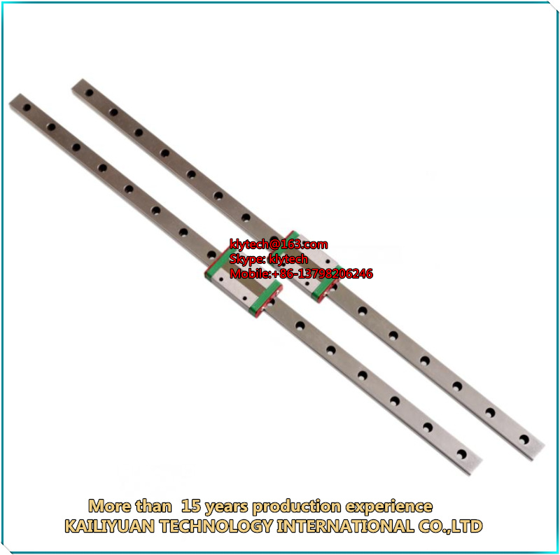 3 pcs/lot Kossel Mini MGN12 12mm miniature linear rail slide 3pcs 12mm L- 400mm rail+3pcs MGN12H carriage for X Y Z axis