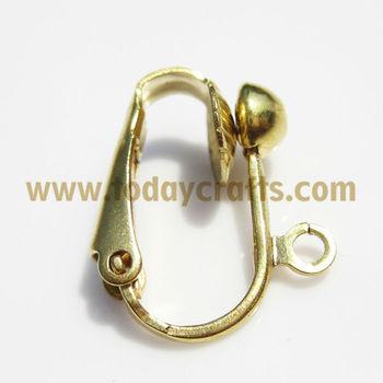 14k Gold French Clip Earrings Designs For Women
