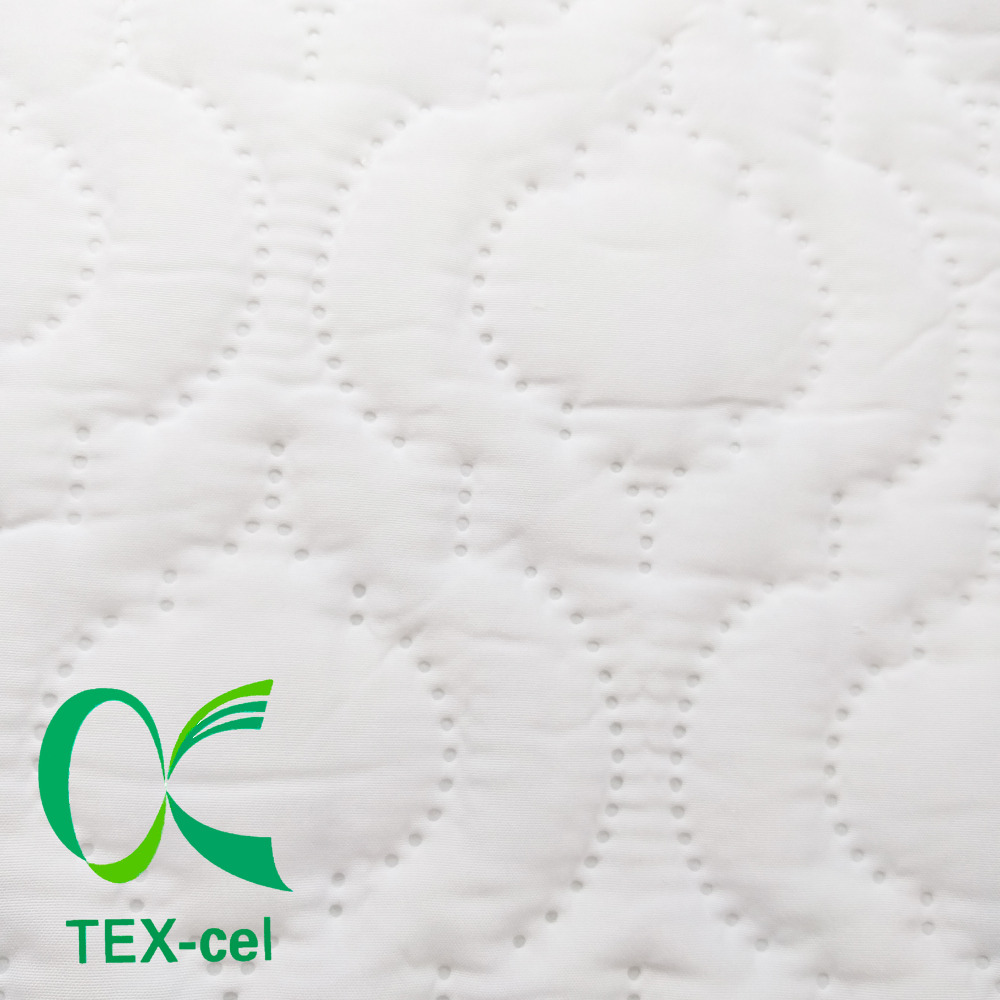 TEX-cel 100% Polyester Ultrasonic Quilting Brushed Pongee Fabric Laminated With TPU Membrane For Mattress Protector&Fitted Sheet