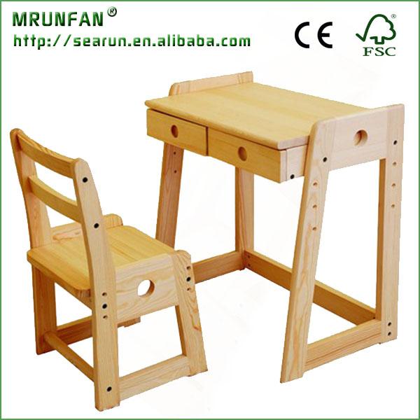 mesas de madera y sillas de los nios ajustables