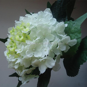 Cheap Artificial Flower Large Silk White Hydrangeasilk Hydrangea