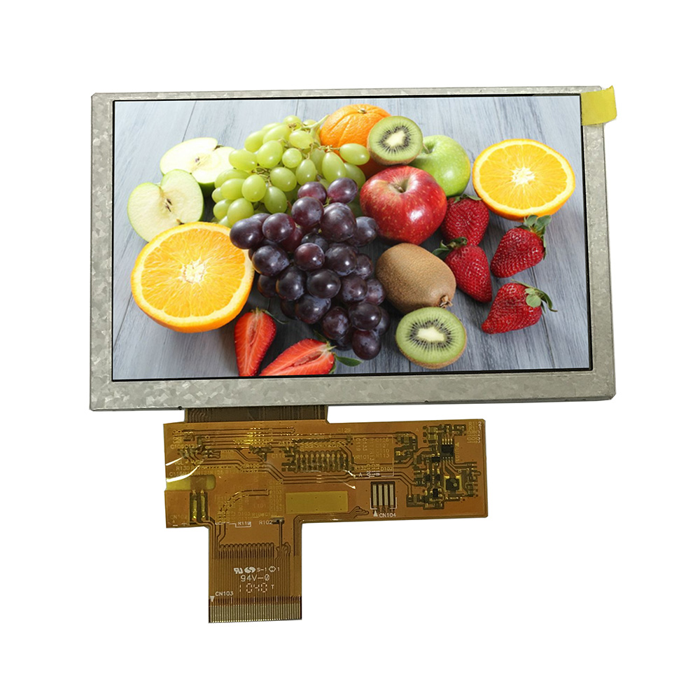 5 inches 40pin tft lcd-kleurenscherm monitor 800x480 lcd touch screen panel met 24 bit RGB