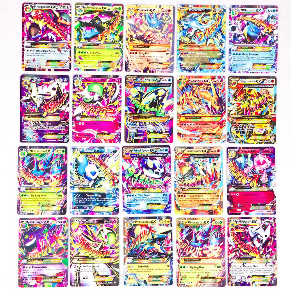 2015 New Mega EX Pokemon Cards 20 Pcs/pack No Repeat In