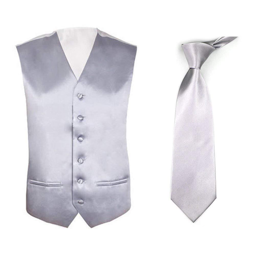 Lito Big Boys Purple Poly Silk Vest Necktie Special Occasion Set 8-14