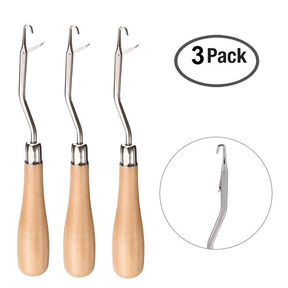 Back To Search Resultstools Wood Handle Latch Crochet Hook Hair Weave Needle Hook Puller Tool For Canvas Rug Making Repair Craft Tools