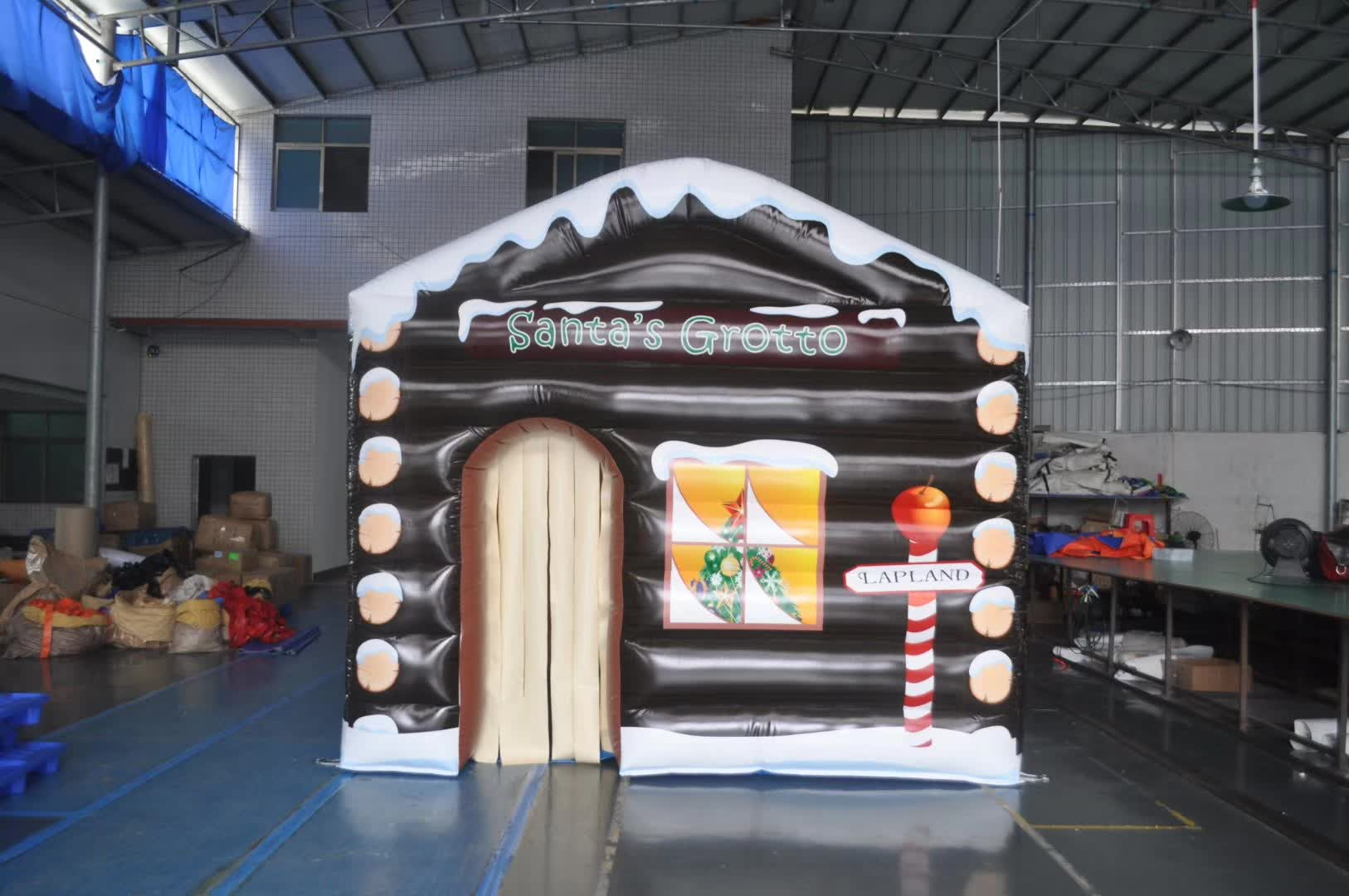 Beautiful Inflatable eve christmas house,inflatable santa claus room,inflatable air villa promotion