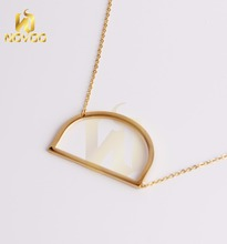 customize women 18k gold plated necklace jewelry