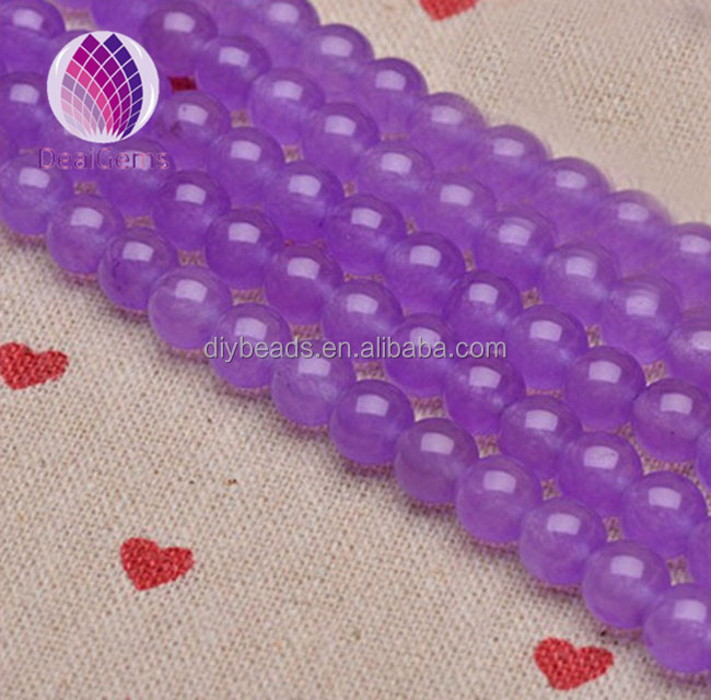 8 mm purple color chalcedony round gemstone loose beads2015 wholesale market price for jewelry