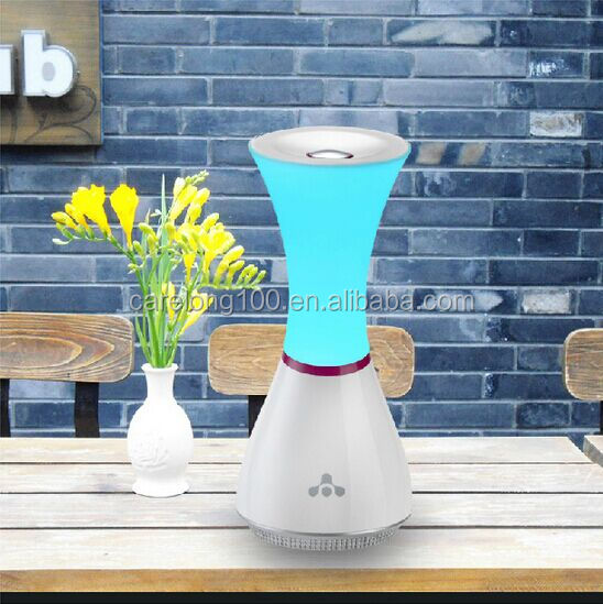 Tap touch night light with bluetooth speaker,musical color changeable night light