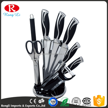 2018 Best Quality Supply Stainless Steel black 9 piece kitchen knife set,  View 9cps knife set, RONGLI Product Details from Shenzhen Rongli Imports &