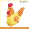Cute plush chicken that lays eggs toy,clown stuffed yellow chicken toys