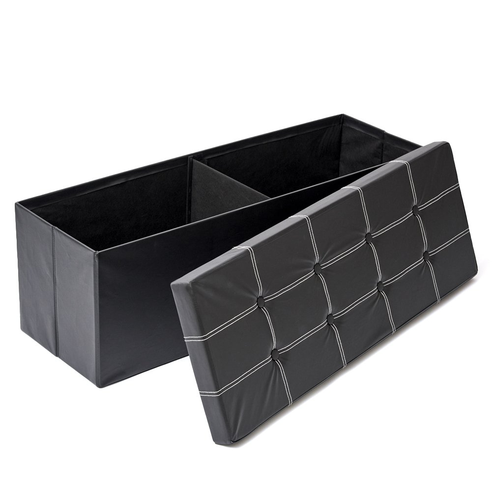 Get Quotations · Storage Bench EZOWare Tufted Faux Leather Foldable Storage Ottoman Bench / Footrest Chest - Black  sc 1 st  Alibaba & Cheap Chest Storage Bench find Chest Storage Bench deals on line at ...