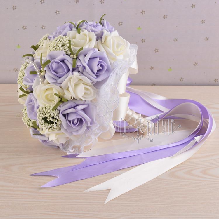 Wedding Budget Flowers: 2016 Bridal Bridesmaid Wedding Bouquet Cheap New Arrival