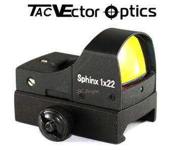 Vector Optics 1x22 Riflescope Sphinx Red Dot Phạm Vi Tự động Cảm