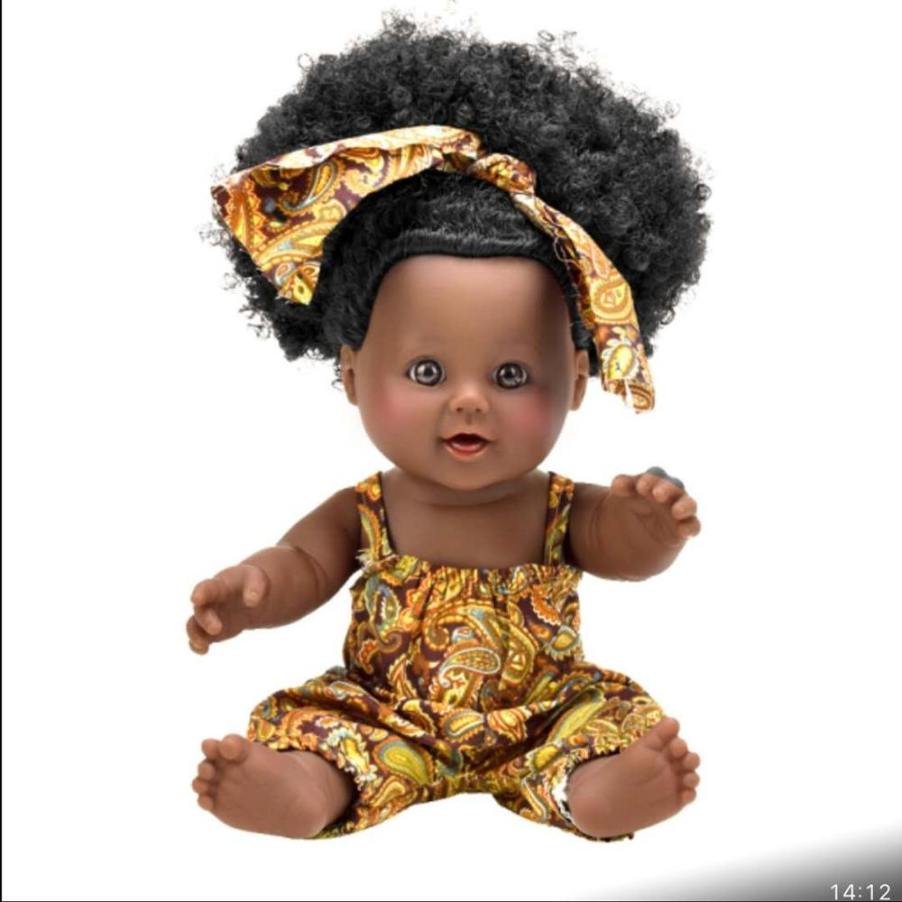 Black Girl Dolls African American Play Toys Lifelike 12 inch Baby Cute Dolls US