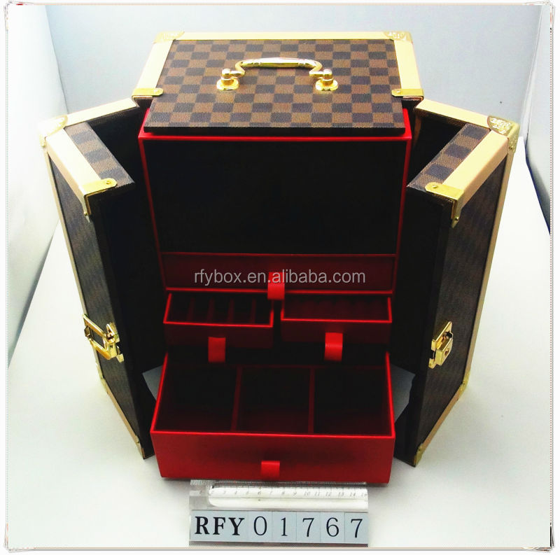 chinese supplier wooden jewelry box pu leather wedding gifts jewellery box