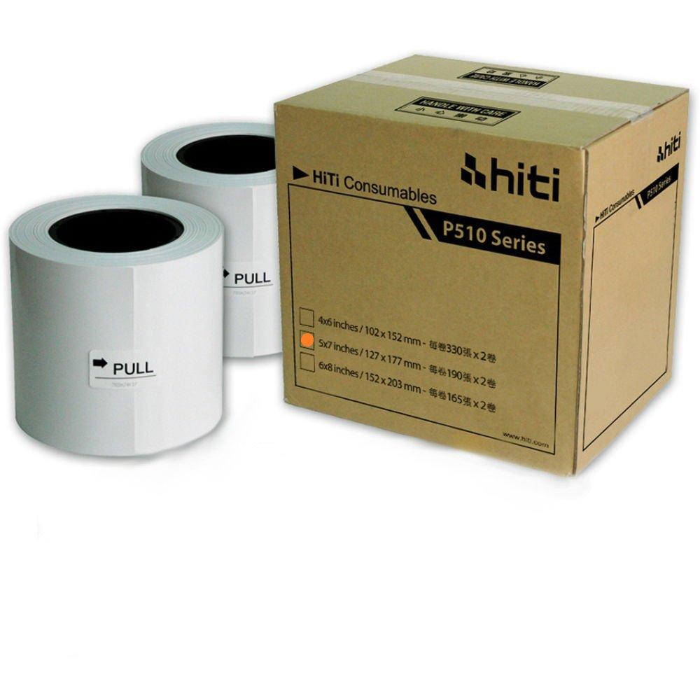"HiTi Digital Inc. HiTi P510 5x7 Ribbon & Paper Case, for Total of 380 5x7"" Prints"