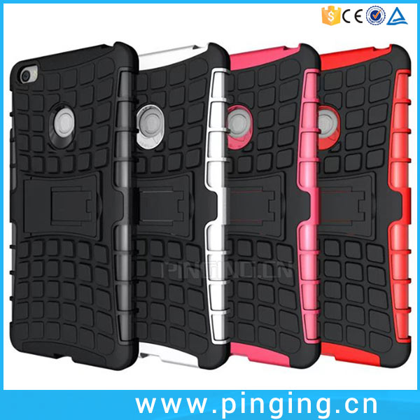 Fashion tire texture rugged anti-skid shockproof kickstand case back cover for xiaomi mi max mobile phone