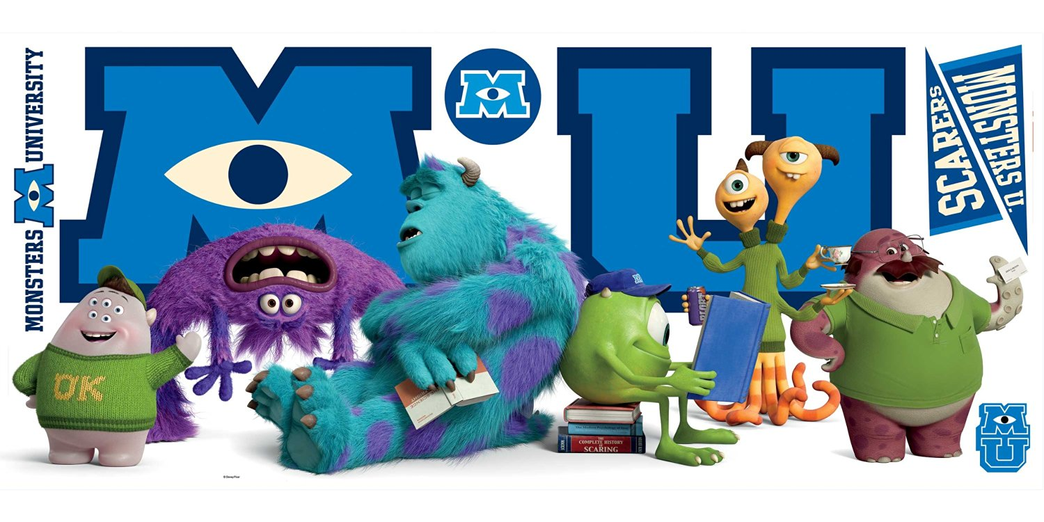 Cheap monsters university full movie youtube part 1 find monsters get quotations disneys monsters university movie giant character collage wall decal voltagebd Image collections