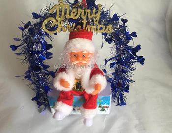 B/O santa claus dancing with flower