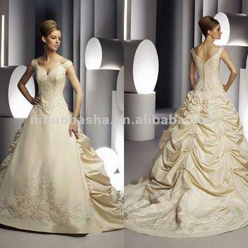 ny-2580 cariño bordado champán oro color vestidos de boda - buy