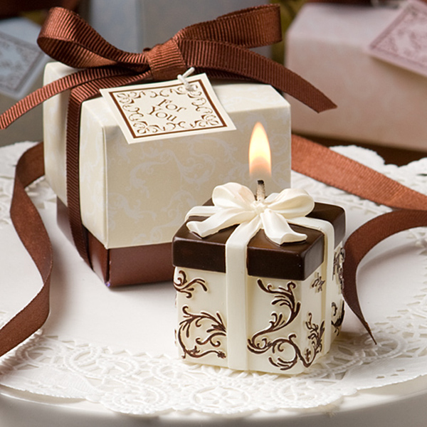 Gift Box Wedding Favors Candles