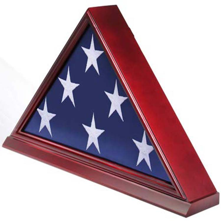 "DisplayGifts FC06-CH Massivholz Elegante 5x9,5 ""Flagge Display Fall für Erdreich/Beerdigung/Veteran Flagge, kirsche"