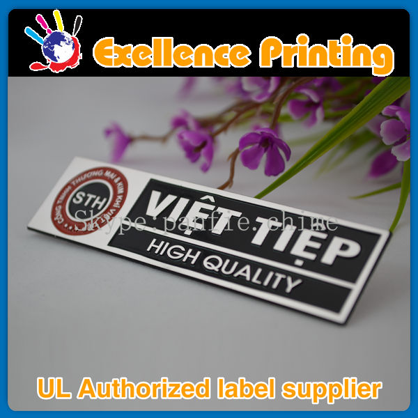 costom different kinds and different colors of engraved metal sticker labels