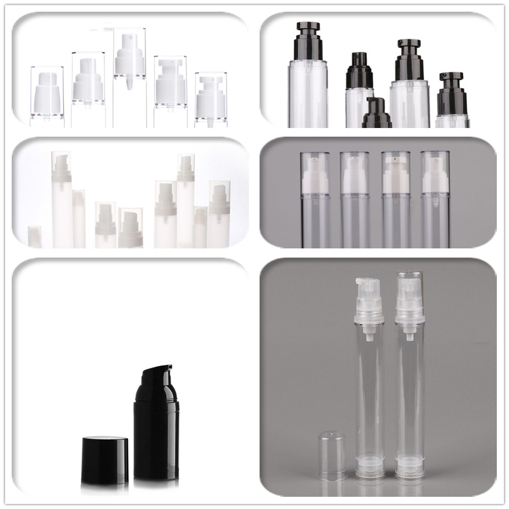 cheap Custom mini atomizer acrylic Clear Facial face mist airless spray bottle packaging Cosmetic bottle with fine mist pump cap