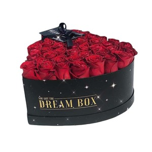 Luxury Heart Shaped Flower Box Chocolate Rose Gift Box Packaging Star Box
