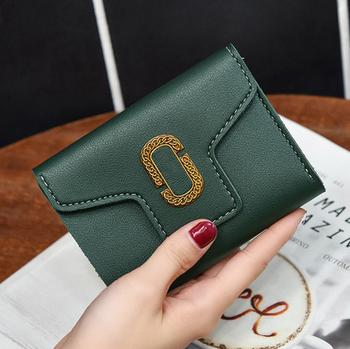Latest Korean trend design women short wallet Hand purse PU leather ladies  purse e66f6693c4a3f