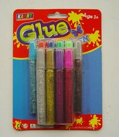 5 color 10MLStationery Non-toxic Glitter Glue set children handwork glue