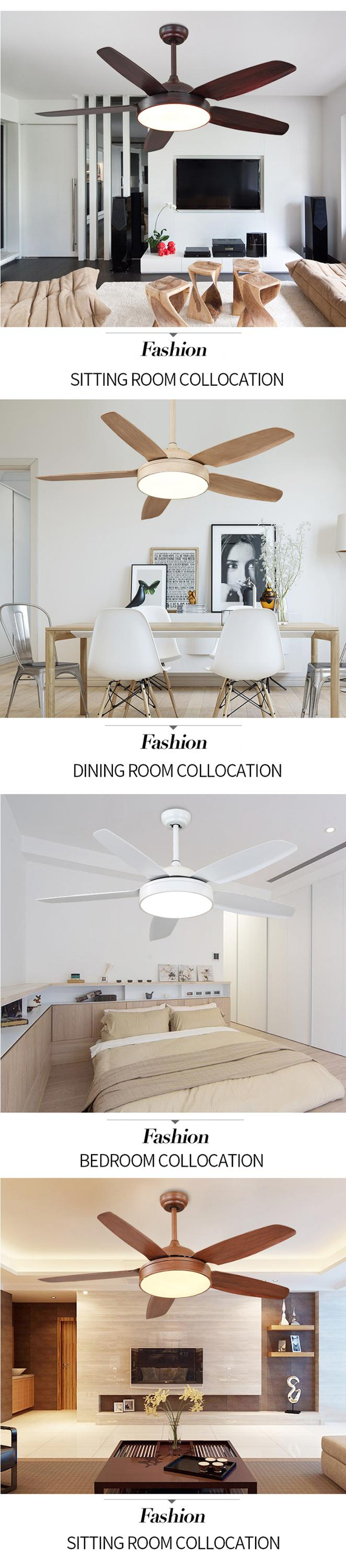 Hot selling modern new design home decorators 52 indoor ceiling fan