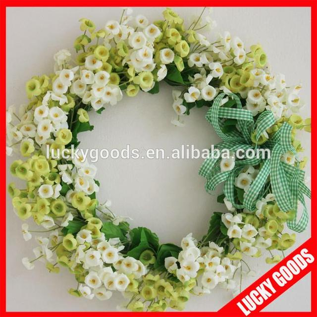 Artificial silk flower garland source quality artificial silk flower wholesale green and white artificial silk flower garland for wedding decoration mightylinksfo