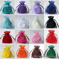 23 Colors 10 Sizes In Stock Customized Cheap Wholesale Organza Pouch