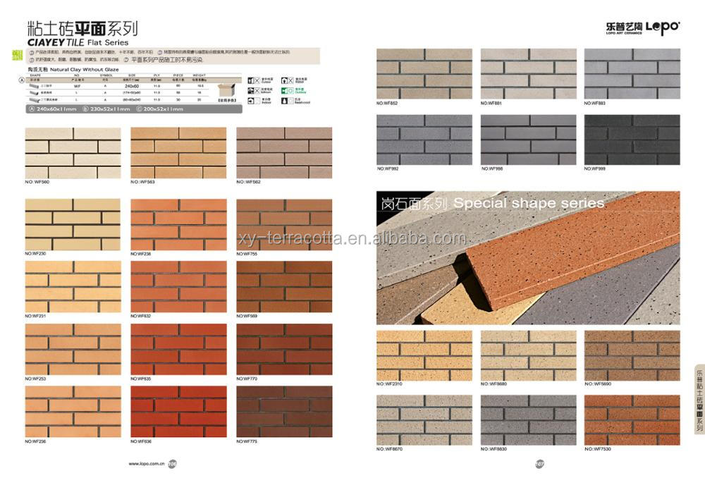 Clinker Brick Tiles For Exterior Wall Red Clinker Brick