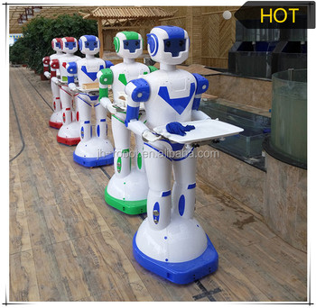 Automatic Guided Vehicle Robot waiter with Food Trolley Humanoid Intelligent Robot for Hotel Room Service Equipment made in chin