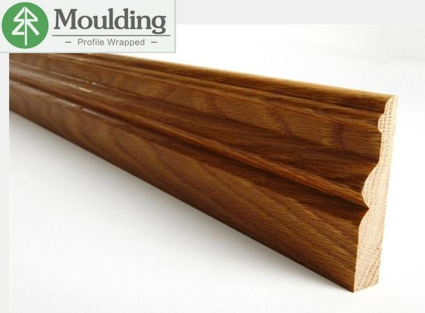 prefinish solid oak wood baseboard for interior project