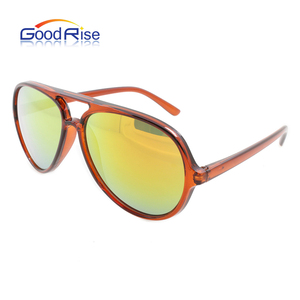 New Oval double bridge sunglasses aviation brand custom logo sunglasses