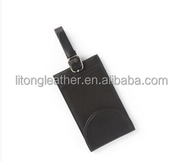 custom business Leather card holder necklace employee id leather card holder with neck strap
