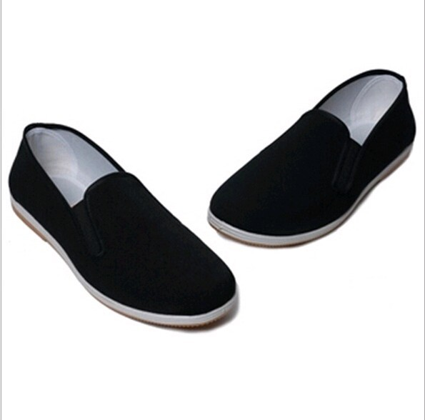 W10377G 2015 men clothes fabric shoes blank black working shoes