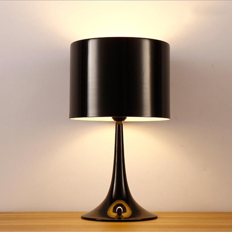 Alüminyum Gölge Dokunmatik Katlanır masa lambası Siyah Yatak Odası Masa Lambası