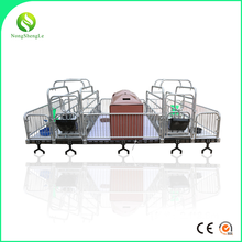 High quality pig farm cast iron farrowing crate with flooring system for sale