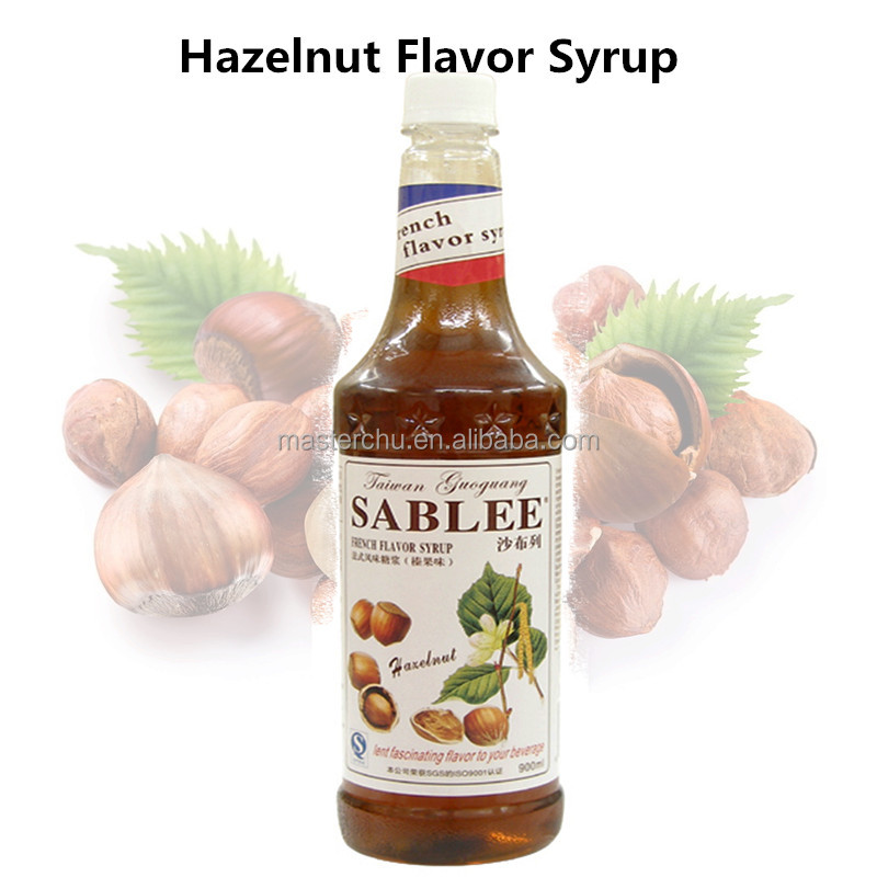 SABLEE French hazelnut flavoured syrup for beverage drink with HALAL 900ml S203