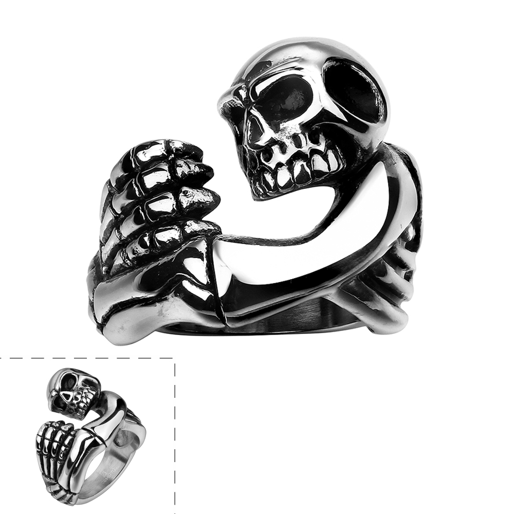 fashion engagement jewelry in bands black band ring skull cubic from crystal women skeleton anillos wedding item stone for cz zirconia rings tone