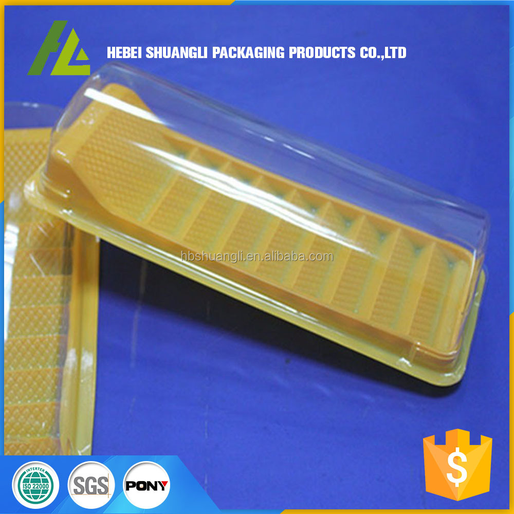 Disposable Food grade PET plastic cake roll plastic container