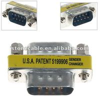 High Quality VGA Male to Male 9-Pin Adapter Gender Changer Converter